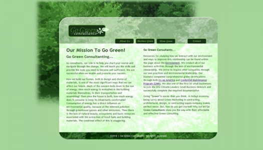 Go Green Consulting draft mock-up