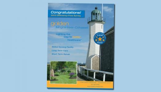 Golden Living retirement home flyer in Cohassett MA