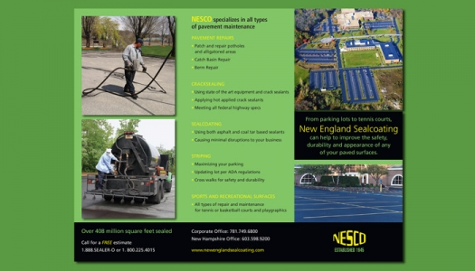 New England Sealcoating brochure side two