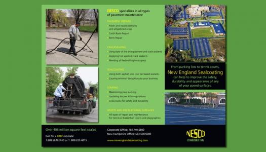 New England Sealcoating brochure side two