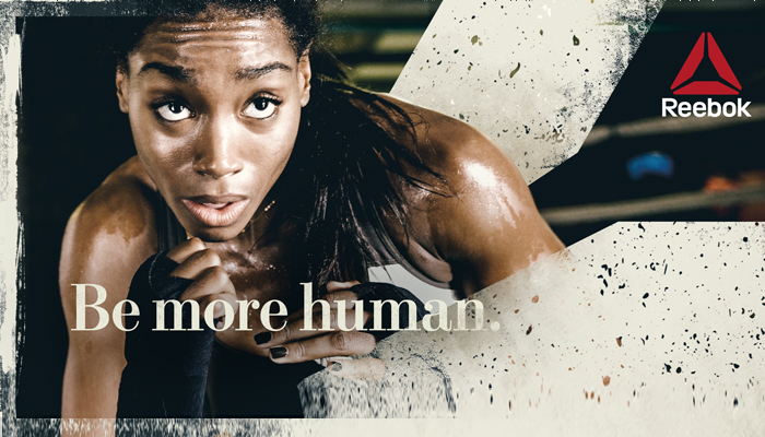 PhotoShop Effects woman athlete-Artwork Supplied-Reebok Wall Graphics