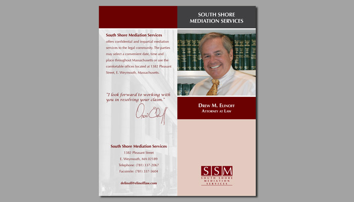 South Shore Mediation Services side one brochure
