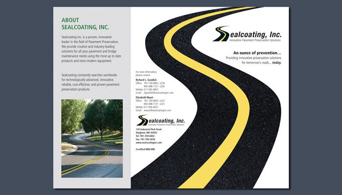 Sealcoating Inc. Tri-fold brochure